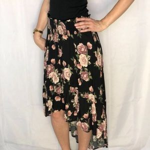 Floral Asymmetrical Skirt NWOT